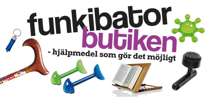Logotype: Funkibatorbutiken - Hjälpmedel som gör det möjligt